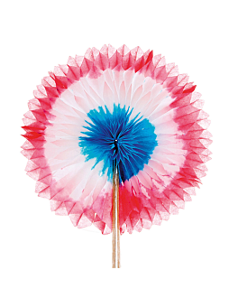 """decorazioni per gelati """"ventagli cinesi"""" Ø 12x15 cm colori varie legno (144 unitÀ)"""