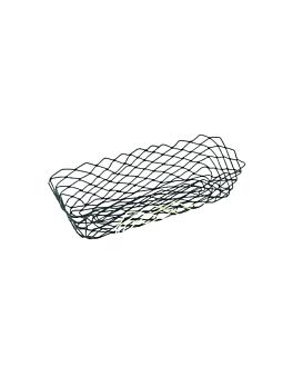 basket retangular 27,5x14,2x8,5 cm preto aÇo (1 unidade)