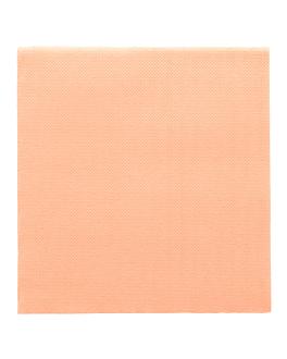 """serviettes """"double point"""" ecolabel 18 g/m2 33x33 cm salmÓn ouate (1200 unitÉ)"""