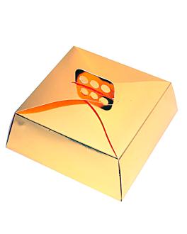 scatole per torte 32x32x10 cm oro cartone (50 unitÀ)