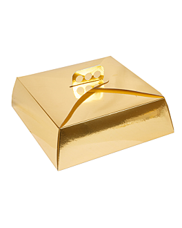 cake boxes 32x32x10 cm gold cardboard (50 unit)