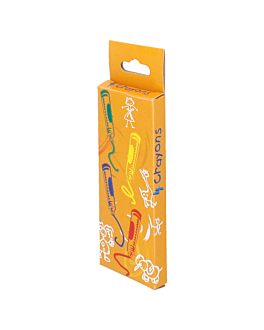 boÎtes de 4 crayons de couleurs 9x3,4x1 cm assorti cire (48 unitÉ)