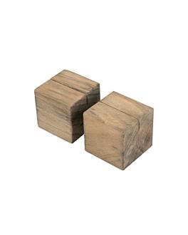 2 u. supports cubiques pour ardoises 4,8 cm naturel bois (8 unitÉ)