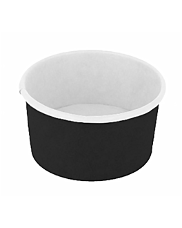 ice-cream tubs 300 ml 250 + 18 pe gsm Ø10x5,5 cm black cardboard (2000 unit)