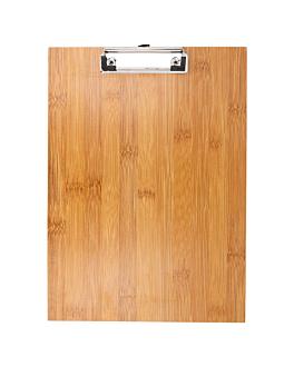 tabla porta menÚ con clip 22,9x31,8x0,4 cm bambÚ (1 unid.)