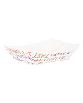 barquettes 'parole' 120 g 250 g/m2 7,3x4,7x3 cm blanc carton (200 unitÉ)
