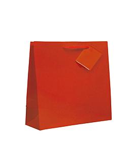 bolsas boutique, asa cordÓn 150 g/m2 19+10x27 cm rojo (100 unid.)