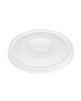 lids for cups 9cm 'bionic' Ø 90 mm white bagasse (1000 unit)