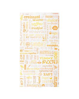 sachets croissants 'parole' 35 g/m2 19+8x35 cm blanc cellulose (250 unitÉ)