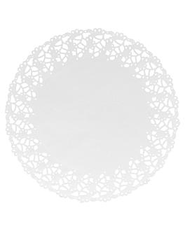 dentelles rondes ajourÉes 53 g/m2 Ø 27 cm blanc papier (250 unitÉ)