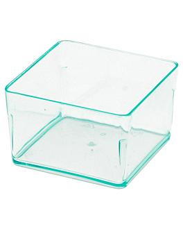 vasetto a cubo piccolo 35 ml 4,2x4,2x2,7 cm verde acqua ps (576 unitÀ)