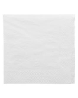 serviettes ecolabel 2 plis 18 g/m2 30x30 cm blanc ouate (2400 unitÉ)