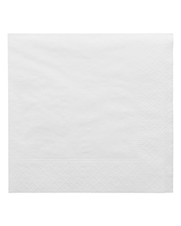 servilletas ecolabel 2 capas 18 g/m2 30x30 cm blanco tissue (2400 unid.)