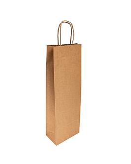 sacchetti sos con manici 1 bottiglia 100 g/m2 14+8x40 cm naturale kraft (250 unitÀ)