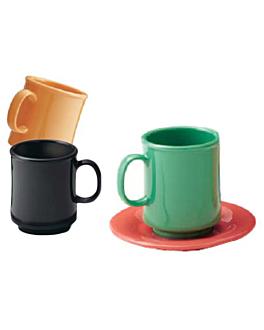 tasses À cafÉ 240 ml Ø 8x9 cm noir melanine (12 unitÉ)