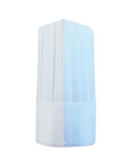 toques ajustables classiques 31 cm blanc papier tissu (10 unitÉ)