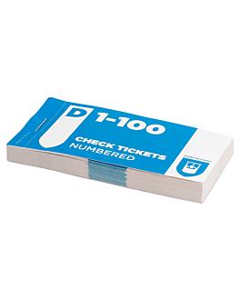 bloccos guardaroba numeri doppi 1-100 15,5 cm carta (30 unitÀ)