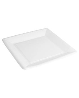 square bio-lacquered plates 225 gsm 18x18 cm white cardboard (400 unit)
