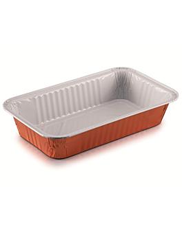 contenedores lacados 1130 ml 24,8x14,7x4,6 cm cobre aluminio (100 unid.)