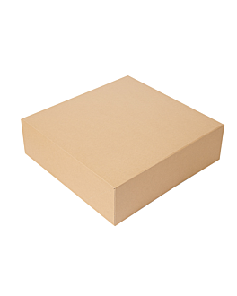cake boxes without window 'thepack' 240 gsm 32x32x10 cm natural nano-micro corrugated cardboard (100 unit)