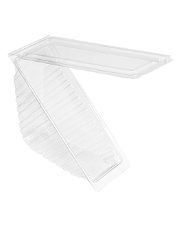 triangular sandwich containers standard 11x11x5,5 cm clear rpet (500 unit)