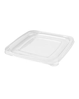 flat lids for 228.40/41/42 - 226.93/94/95 'bionic' 18,5x18,5x1,3 cm clear pet (400 unit)