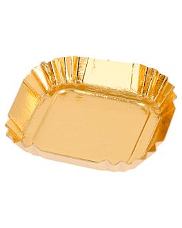 mini trays 325 g/m2 5,5x5,5 cm gold cardboard (100 unit)