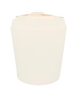 ricipienti multiuso per microonde 960 ml 305 + 18 pe g/m2 Ø9x10,8 cm bianco cartone (50 unitÀ)
