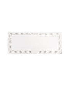 """biscuits roulÉs dentelÉs """"erik"""" 17x42 cm blanc carton (100 unitÉ)"""