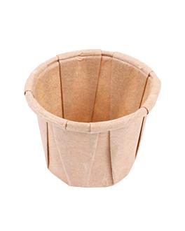 terrina carta plissettata 22 ml Ø3,8x2,8 cm naturale pergamana antigrassi (250 unitÀ)