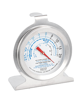 refrigerator/freezer thermometer -29º to 20ºc 6,2x7,3x4 cm silver stainless steel (1 unit)