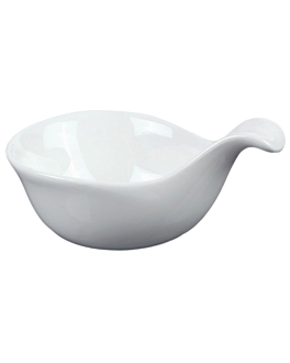 bols avec anse 12 cm blanc porcelaine (12 unitÉ)