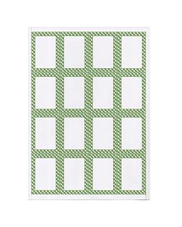 100 feuilles din a4 16 Étiquettes rectangulaires 4,5x6,5 cm blanc papier (1 unitÉ)