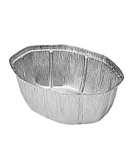 recipientes pollos - grandes 25x19,5x9 cm aluminio (500 unid.)