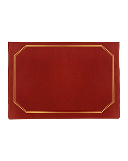 schreibtischauflage preiswert 28,5x42 cm bordeaux pvc (1 einheit)