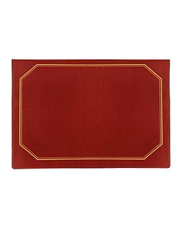 dossier de mesa econÓmico 28,5x42 cm bordeaux pvc (1 unidade)