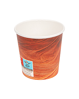 bicchieri bevande calde 1 parete 'arizona' 120 ml 230 + 18 pe g/m2 Ø6,2/4,5x6 cm marrone cartone (1000 unitÀ)