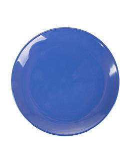 assiettes Ø 15,3 cm bleu melanine (12 unitÉ)