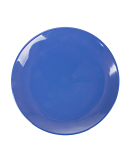 dishes Ø 15,3 cm blue melamine (12 unit)