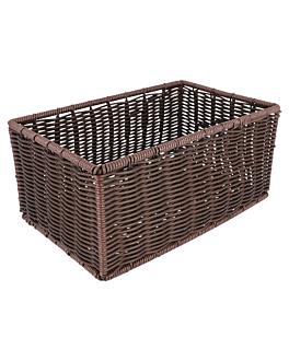 basket imitation wicker 25x16x11,5 cm brown pp (1 unit)