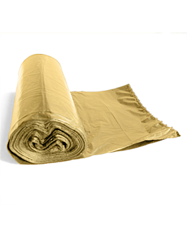 25 u. sacs poubelle 15µ 50x55 cm creme pehd (80 unitÉ)