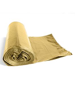 25 u. garbage bags 15µ 50x55 cm cream pehd (80 unit)