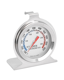 oven thermometer 50º to 300ºc 6,5x7x4 cm silver stainless steel (1 unit)