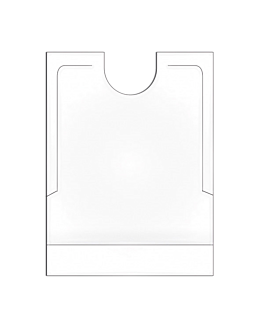 bibs with pocket 40x51+7 cm white pehd (500 unit)