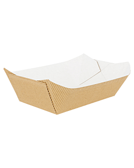 containers-corrugated 1440 g 13,7x8,5x6,5 cm natural kraft (400 unit)