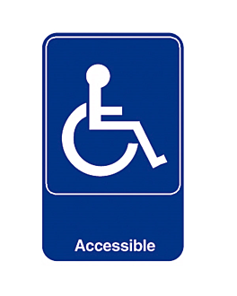 "placa autoadhesiva ""accessible"" 15,3x23 cm azul metacrilato (1 unid.)"