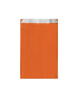 sacchetti piani unicolore 60 g/m2 19+8x35 cm arancio cellulosa (250 unitÀ)