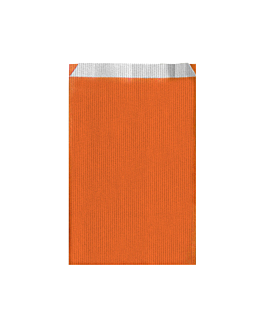 bolsas planas unicolor 60 g/m2 19+8x35 cm naranja celulosa (250 unid.)