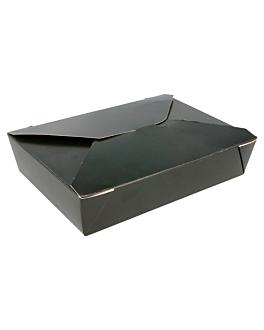 micro. boxes rectangular 1470 ml 350 gsm+pp 19,8x14x4,8 cm black cardboard (50 unit)