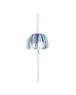 """pailles dÉcorÉes flexibles """"palmiers"""" 23 cm assorti pp (100 unitÉ)"""